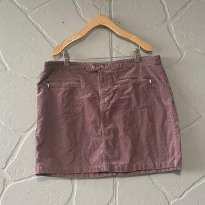 Mossimo Mauve Corduroy Mini Skirt